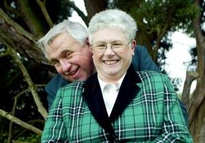 Photo: Scott Heavey. 29/03/2005. Fergus Wilson and wife Judith.